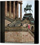 Entrance Old National Gallery Berlin Canvas Print