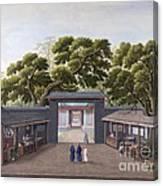 Entrance To Honam Temple, China, 1800s Canvas Print