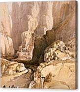 Entrance To Petra Canvas Print