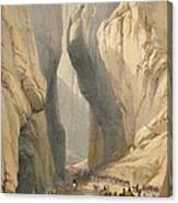 Entrance To The Bolan Pass From Dadur Canvas Print