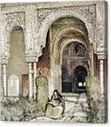 Entrance To The Hall Of The Two Sisters Canvas Print