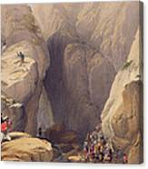 Entrance To The Kojak Pass From Parush Canvas Print