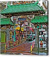 Entry Gate To Chinatown In San Francisco-california Canvas Print