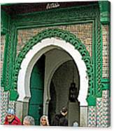 Entry To A Mosque For Men Only In Tangiers-morocco Canvas Print