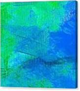 Envision Aqua Blue Canvas Print