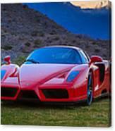 Enzo Ferrari Bold Canvas Print