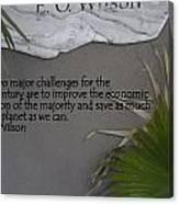 E.o. Wilson Quote Canvas Print