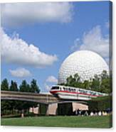Epcot And The Monorail Ride Canvas Print
