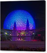 Epcot At Night - Spaceship Earth Canvas Print