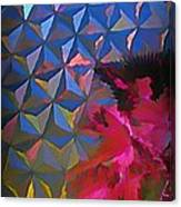 Epcot Centre Abstract Canvas Print