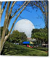 Epcot Globe Walt Disney World Canvas Print