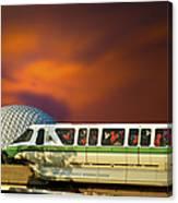 Epcot Riding The Rail Canvas Print