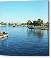 Epcot World Showcase Lagoon Panorama 05 Walt Disney World Canvas Print