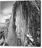 406716 Epic Bw Half Dome 1967 Canvas Print