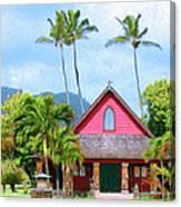Episcopal Church In Kapaa Canvas Print