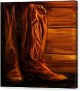 Equestrian Boots Canvas Print