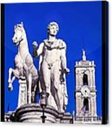 Equestrian Statue At Capitoline Hill Canvas Print