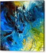 Equus Blue Ghost Canvas Print