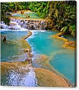 Erawan Waterfalls Thailand Canvas Print