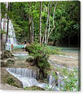 Erawan National Park In Thailand Canvas Print