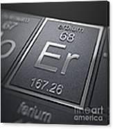 Erbium Chemical Element Canvas Print