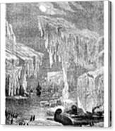 Erebus And Terror In The Ice 1866 Canvas Print
