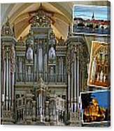 Erfurt Organ Montage Canvas Print