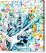 Eric Clapton - Watercolor Portrait Canvas Print