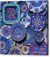 Erice Italy Plates Blue Canvas Print