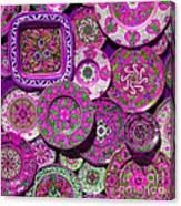 Erice Sicily Plates Pink Canvas Print