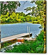 Erie Canal Dockage Canvas Print