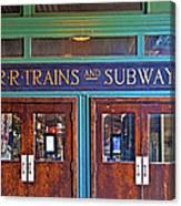 Erie Lackawanna Terminal Doors Hoboken Canvas Print