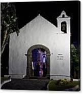 Ermita San Telmo. Puerto De La Cruz By Night Canvas Print
