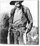 Ernest Hemingway Fishing Canvas Print
