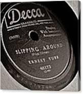 Ernest Tubb Vinyl Record Canvas Print