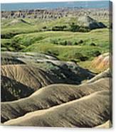 Eroded Landscape Badlands Np Canvas Print