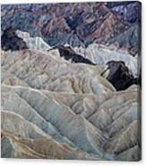 Erosional Landscape - Zabriskie Point Canvas Print