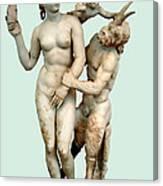 Aphrodite, Pan And Eros Canvas Print