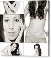 Erotic Beauty Collage 28 Canvas Print