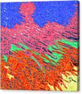 Erupting Lava Meets The Sea Canvas Print