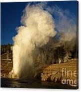 Eruption Along The Firehole Canvas Print