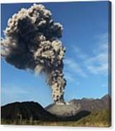 Eruption Of Sakurajima Volcano Canvas Print