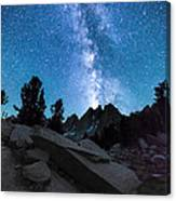 Eruption Of The Milky Way Canvas Print