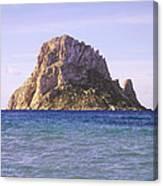 Es Vedra Rock Island Of Ibiza Canvas Print