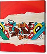 Escaping The Mayan Underworld Canvas Print