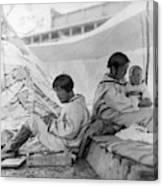 Eskimo Family, C1901 Canvas Print