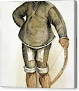 Eskimo Man Canvas Print