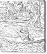 Eskimos Hunting, 1580 Canvas Print