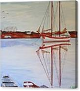Essex Harbor Reflections Canvas Print