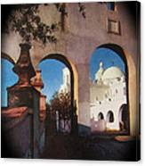 Esther Henderson Photo Back North Entrance  Of San Xavier Mission Tucson Arizona 1957-2013  Canvas Print